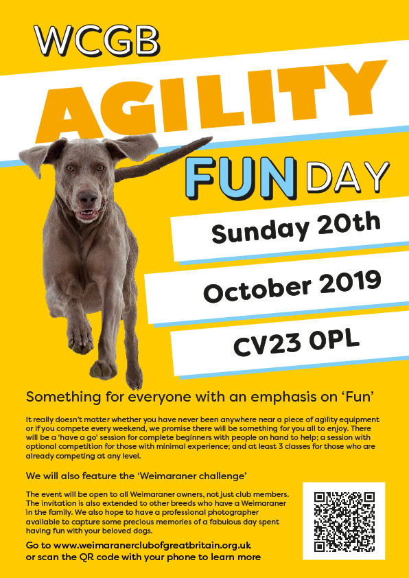 Agility fun day poster Oct 20th 2019